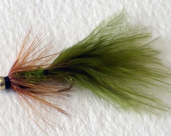 Dodger Damsel Variation Trout Fly Lure Size 10 Trout Fishing Flies BARBLESS With Added Weight  Hand tied in the UK. Sold Individually