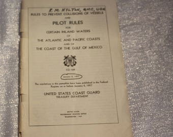 Vintage Pilot Rules for Certain Inland Waters of the Atlantic and Pacific Coasts Book, Military