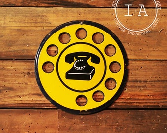Antique SIP Rotary Telephone Sign