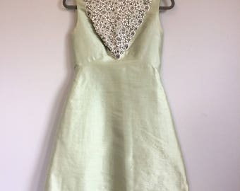 Vintage Glam Beaded Silk Shift