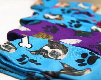 Jake & Olive Socks for Heather Jones - Pug Socks - Cat Socks