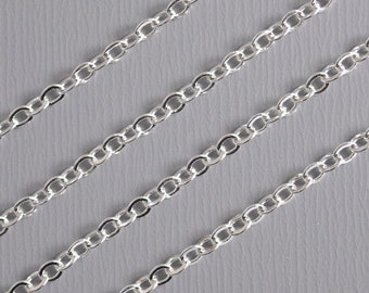 CHAIN-SILVER-2.5MMx2MM - High Quality 10-Foot Fine Silver Plated Chain, 2.5mm x 2mm
