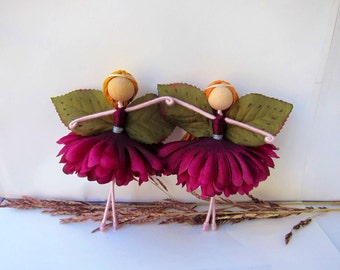 2 Twin Flower Fairy Dolls, 2 Ballerina Dolls, 2 Fall Fairy Dolls, 2 Ballerina Dolls, November Birth Flower Dolls, 2 Handmade Dolls.