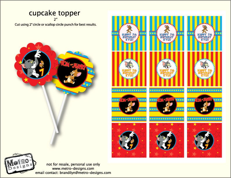 and Jerry Cupcake Toppers