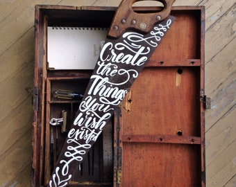 Create the things you wish existed painted saw, Farmhouse Decor, Metal Wall Art, Rustic Decor