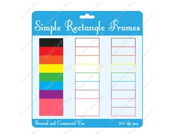 Simple Rectangle Frames INSTANT DOWNLOAD Digital Scrapbook