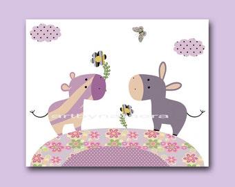Nursery Art Decor Kids Wall Decor Baby Girl Room Decor Art Print Kids Art Nursery Decor Nursery Art Print Kids Artwork Zebra Purple Pink