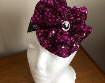 Baby headband, Pink Purple Sequined Headband, Girls Headband, Toddler Headband