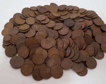 200 Wheat Pennies + 3 Buffalo Nickels
