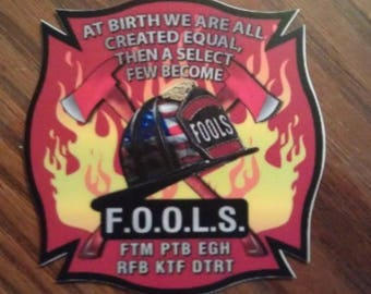 """Fraternal Order of Leatherhead Society FOOLS Decal (4"""")"""
