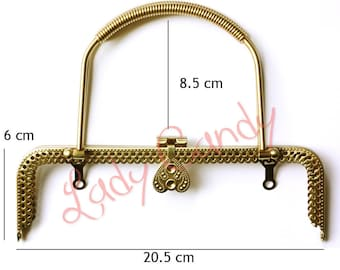 Clasp coin purse from 20.5 cm Metal #330204