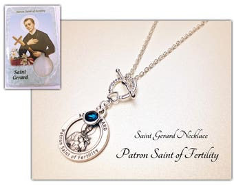 St gerard etsy st gerard necklace silver plated chain necklace st gerard medal angel crystal aloadofball Image collections