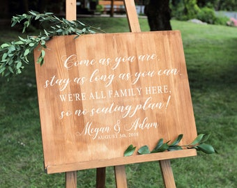 Wedding Seating Sign - Decal - Seating Sign - Wedding Sign - Wedding Seating - Wedding Signs - Wedding Signage - Rustic Wedding Sign - usa