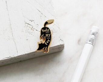You're My Fox Enamel Pin - Gold Enamel Pin - Fox pin - Enamel Lapel Pin - gift for her - hard enamel pin - fun enamel pin - fashion pin