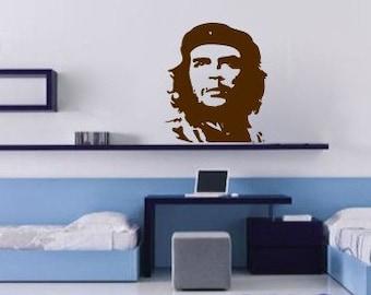 Che, revolution, vinyl Wall DECAL- interior design, sticker art, room, home and business decor