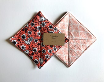 2 Hot Pads - Cotton Hot Pads - Floral Hot Pads