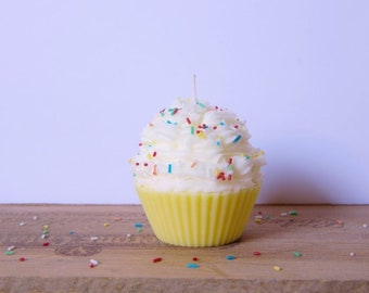 Yellow Cupcake candle