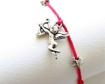 Waxed cotton bracelet 17497