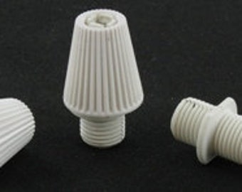 50pk Strain Reliefs for Pendant Light - White Strain Relief for Lamp Cord - Wiring or Rewiring your Handmade Lighting - Cord Grip