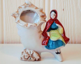 Little red riding hood fauna vase
