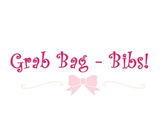 mystery bib grab bag, surprise bib grab bag, baby girl grab bag, baby boy grab bag, bandana bib grab bag