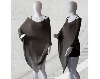 Wool poncho, womens poncho, wedding poncho, wedding cape, knit poncho, knit scarf, womens sweater, wool cape, bridal poncho, womens coats