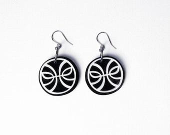 Lightbender Acrylic Earrings - Laser cut / Geometric Jewelry / Dangle Earrings