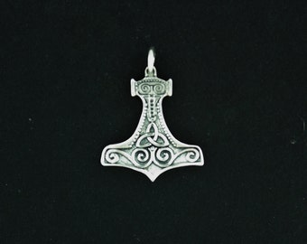 Classic Thor's Hammer in Sterling Silver