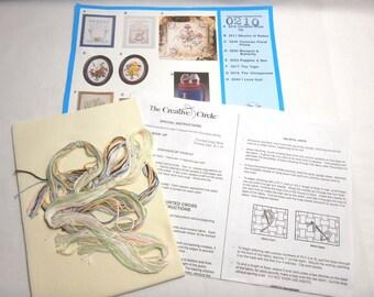 "Creative Circle Counted Cross Stitch Kit 0210 Children Grow Up Sampler 8"" X 10"" -7"