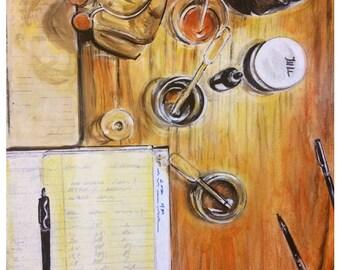 Wall Art -  Art Print - Still Life - Bottle Art- Glass Art - Science - Leah Reynolds