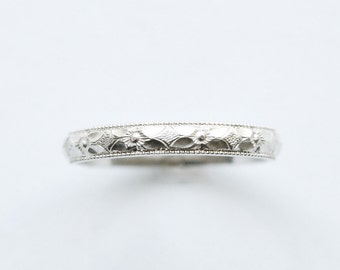 Silver Engravable Ring Petite and Stackable Band In Your Size
