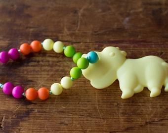 Chompy Hippo Teether Babywearing Accessory