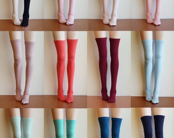 BJD Doll clothes ,SD MSD Minifee socks, Thigh-high stockings long socks , 13 colors