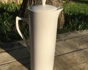 Tall ironstone pitcher