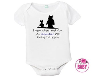 Pink winnie the pooh etsy disney winnie the pooh baby girl outfit baby clothes handmade onesie negle Images