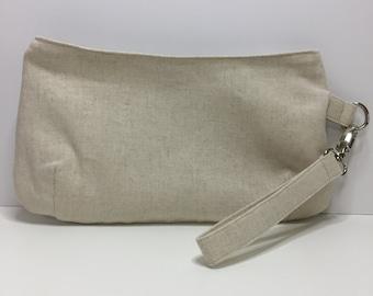 Project bag, notions bag, notions pouch, zipper bag, clutch, wristlet