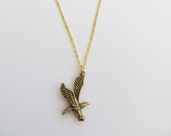 Eagle Necklace, Bird jewelry, Bird of Prey Necklace, Eagle pendant, American Eagle, Golden Eagle