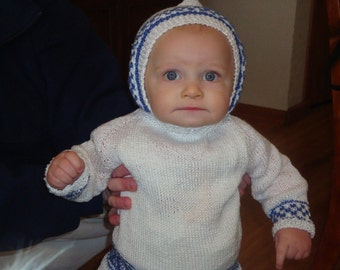 hand knit cotton hoodie