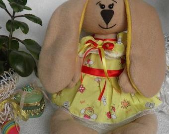 Soft toy  handmade Plush rabbit  Easter gift