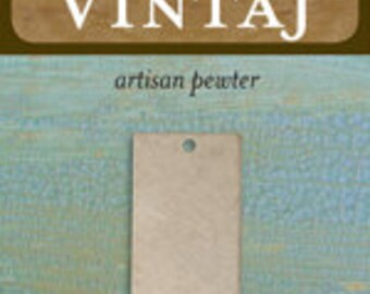 Vintaj 32x15mm Rectangle (1 pc) - Artisan Pewter
