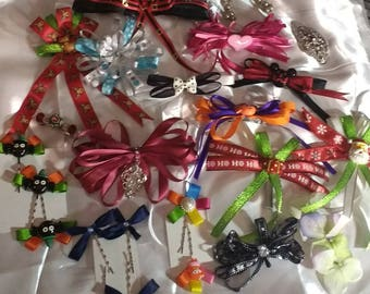 Random hair clips and bows