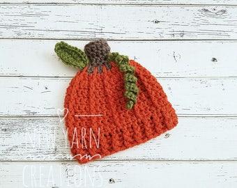 Crochet Pumpkin Hat, Baby Pumpkin Photo Prop, Pumpkin Hat, Newborn Pumpkin Hat, Pumpkin Beanie, Pumpkin Hats, Fall Photo Prop, MADE 2 ORDER