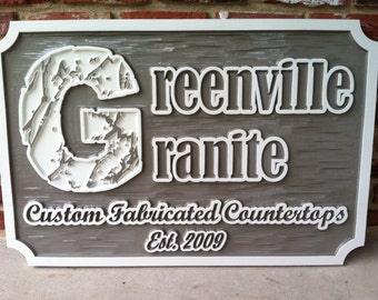 Custom Carved Business Signs -  Professional Exterior or Interior Dimensional Billboard