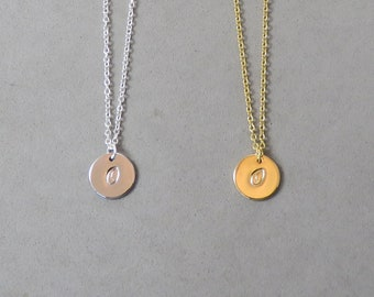 Engraved Initial O Necklace