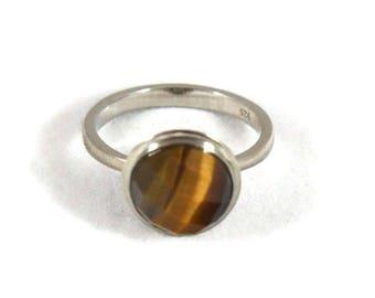 Tigers Eye Ring | Crystal Ring | Golden Crystal | Prosperity | Abundance | Solar Plexus Chakra |Crystal Jewellery | Gemstone Jewellery Money