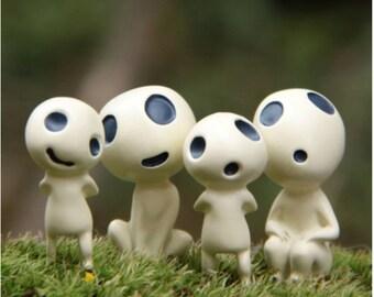 Princess Mononoke Studio Ghibli Kodama Miniature terrarium Figurine DIY craft supply