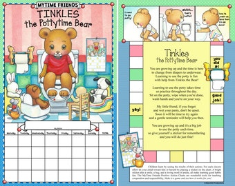 Tinkles the Pottytime Bear, Potty Training Chart (Chart Only)