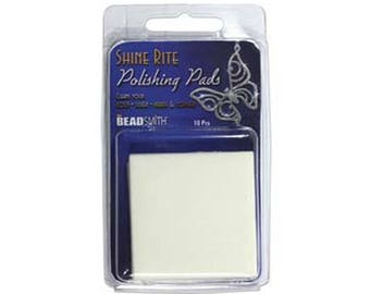 Shine-Rite Polishing Cloth Pads 55218 For Silver Gold Brass Copper Metal Cleaner, Beadsmith Polishing Cloth, Tarnish Cleaner, Tarnish Cloth