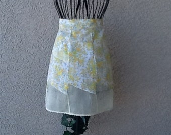 YELLOW PANEL APRON - Cotton and Sheer