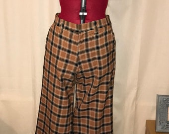 1970s vintage checked flares